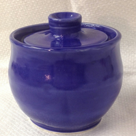 Blue Storage Jar - Ceramic Storage Jar - Pottery Storage Jar