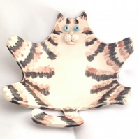 Tabby Cat Soap or Trinket Dish - Peter Pickles - Ceramic - Pottery