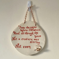 Night Before Christmas Wall Plaque