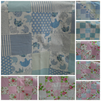 Baby blanket, patchwork fleece backed baby blanket, comforter blanket