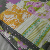 patchwork quilt, single quilt, patchwork throw, blanket,