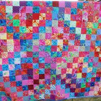 handmade patchwork quilt for double bed, sofa throw -