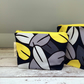 Blue, Grey, Yellow Eucalyptus Leaf Make-up, Cosmetics, Toiletries Bag - small