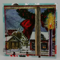 Vintage Book (1975)  Christmas Card, One-Of-A-Kind