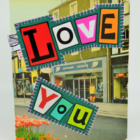 Vintage Cockermouth Valentine Card, One-Of-A-Kind