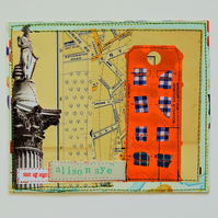 SALE Handmade Upcycled London Postcard, One-Of-A-Kind