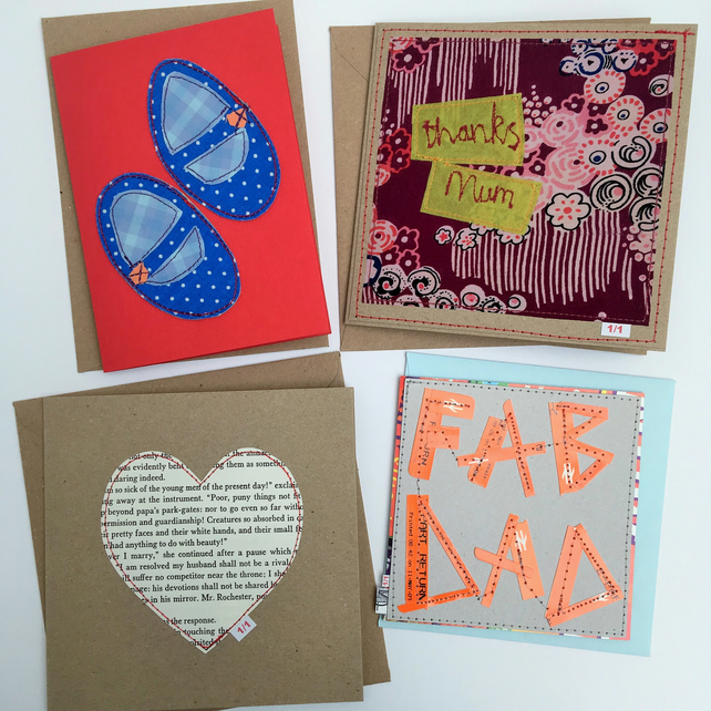 Unique Handmade Cards - Pack 11