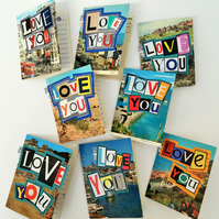 Pack of 3 Ethical Cards - Love You, Man and Flower