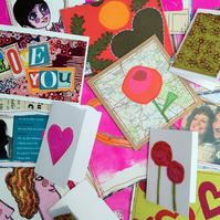 Pack of 3 'Love' Cards - Lucky Dip