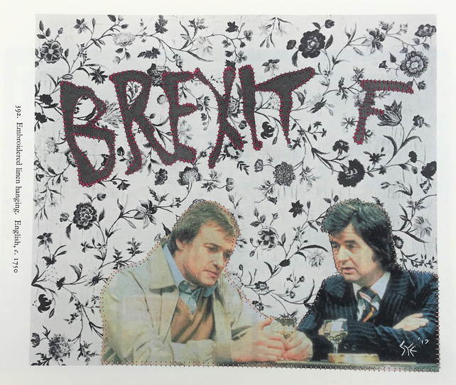 Likely Lads Hand-Stitched Collage, One Of A Kind