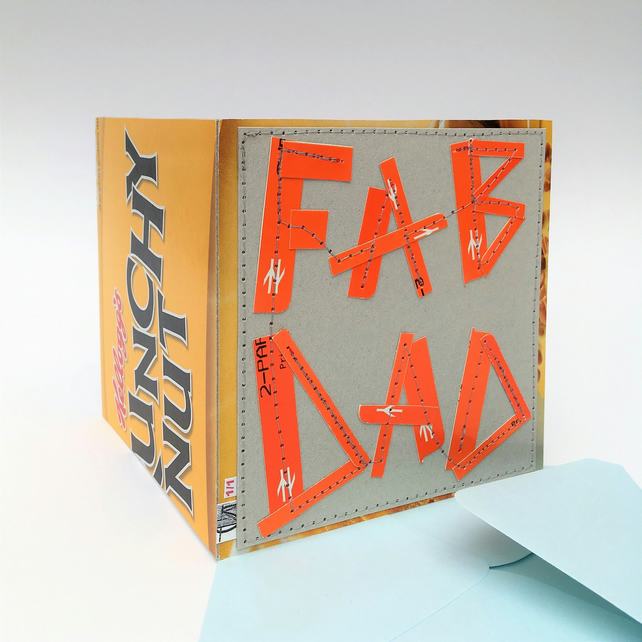 Eco-Friendly FAB DAD Card, One-Of-A-Kind