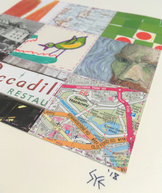 Bespoke Hand-Stitched Collage, made to order from your mementoes