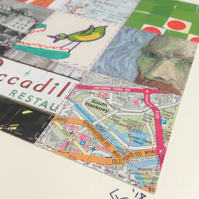 Bespoke Hand-Stitched Collage, made to order from your mementos