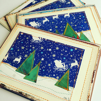 Eco Friendly Christmas Postcards - 2 Pack