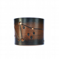 Capricorn Rustic Brown Mens Leather cuff