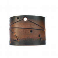 Libra Mens leather constellation cuff