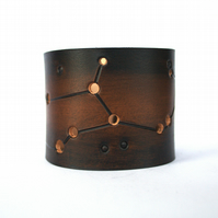 Virgo Constellation mens leather cuff