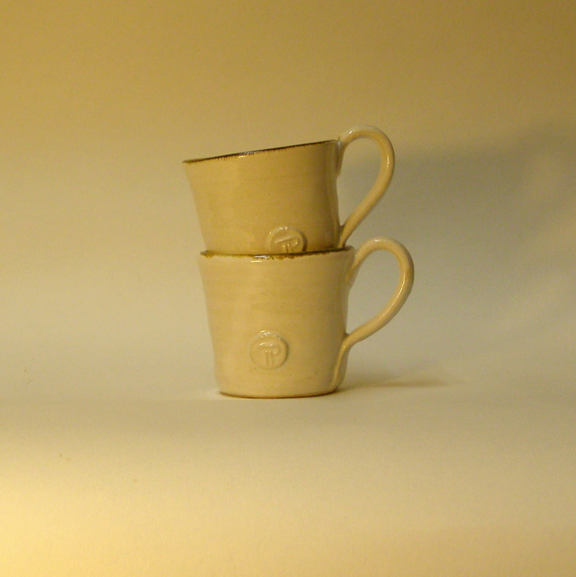 Pair of Espresso Cups - Hand Thrown Ceramic Pottery