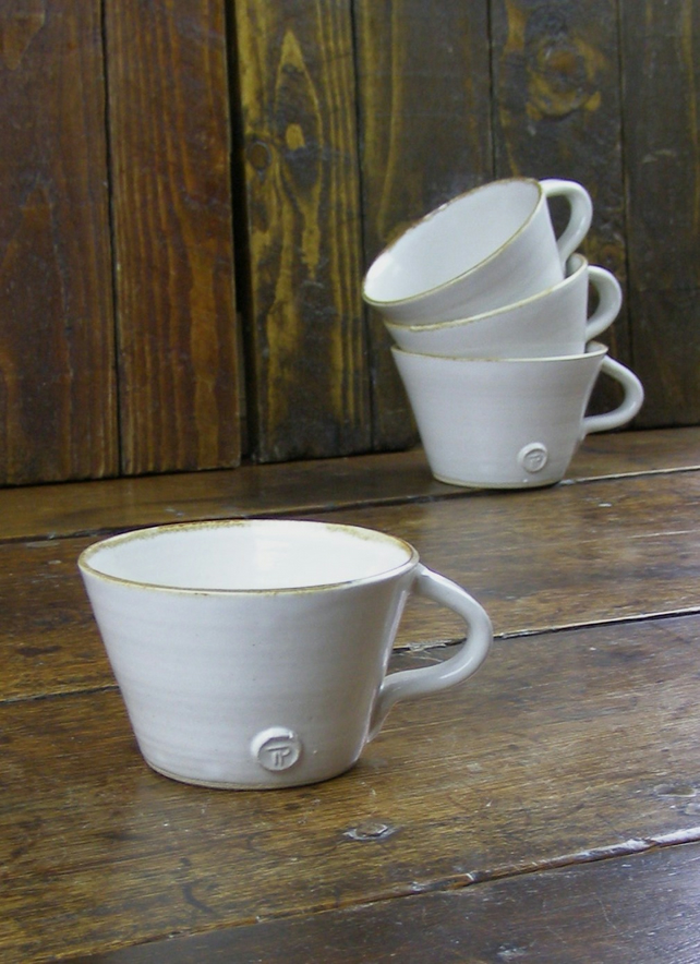 Large Cappuccino Cups - Hand Thrown Pottery