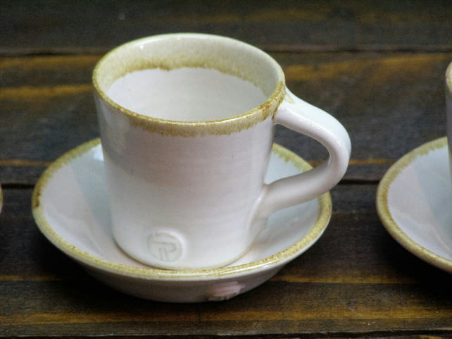 Espresso Cup With Saucer - Hand Thrown Ceramic Pottery