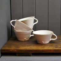 4 Soup Bowls With Handles - Hand Thrown Pottery