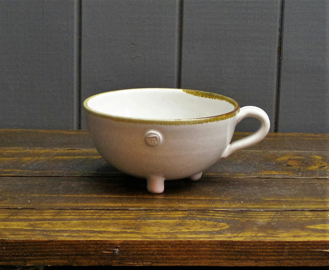 Cauldron Teacup - Hand Thrown Pottery