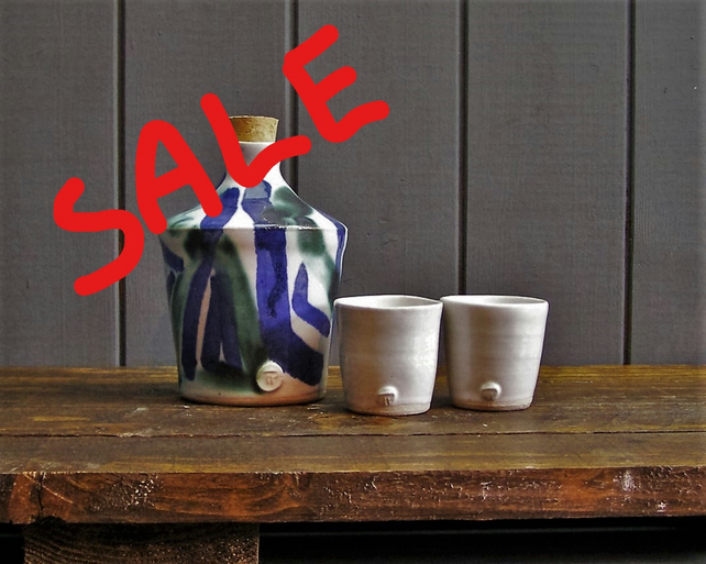 Decanter and Shot Cups - Hand Thrown Pottery