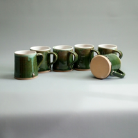 Green Tea or Coffee Mug - Hand Thrown Ceramic Pottery