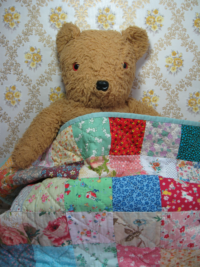 Hand Sewn Baby Quilt Folksy
