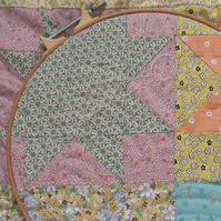 "Custom made ""Miss Peggy"" hand sewn baby quilt"