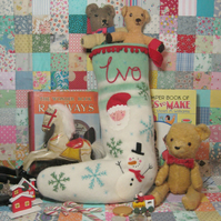 Large sized Custom made Christmas Stocking