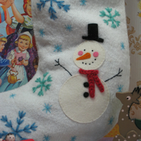 Small sized custom made and personalised Christmas stocking