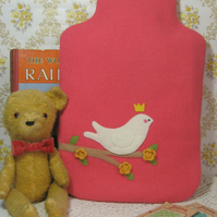 Pomegranate red hot water bottle cosy