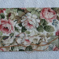 Vintage floral knitting needle wrap