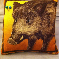 Boar pin cushion with snap bracelet