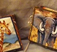 African animal needle case