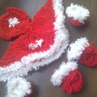 Knitted Christmas Doll Set
