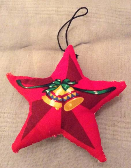 Padded material Star Christmas tree decoration