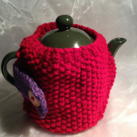 Small knitted teapot cosy