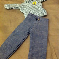 Knitted doll set
