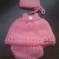 Small Doll Pink Knitted Set