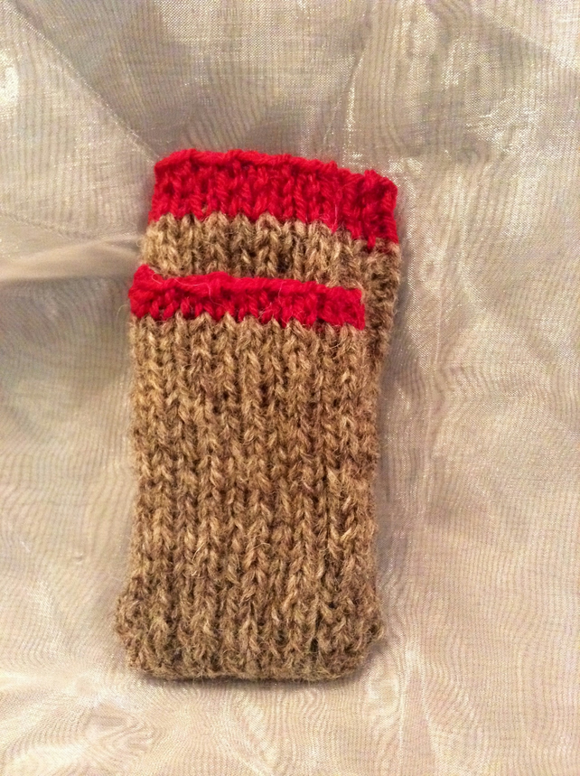 Knitted phone sock