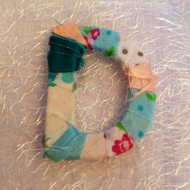Pretty little shabby chic fabric wooden letter