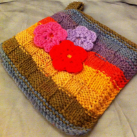 Square Decorative Knitted Pot Holder