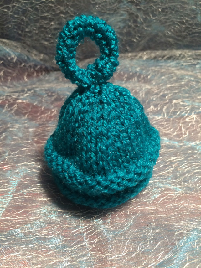 Little Knitted Jade coloured Egg Cosy