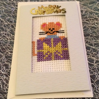 Litttle Christmas cross stich gift tag