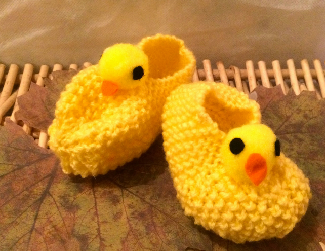 Little Chick Baby Booties