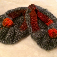 Glitzy Winter Wool Slipper Socks