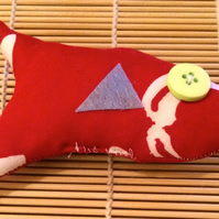 Little Cotton Cat Nip Fish Toy