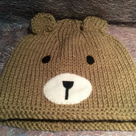 Cute Knitted Bear Hat